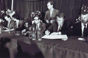 Podpisanie porozumień sierpniowych w Szczecinie