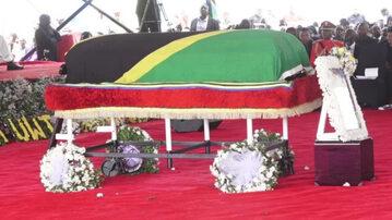 Pogrzeb prezydenta Tanzanii. Kadr z nagrania