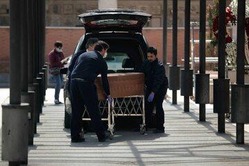 Pogrzeb w czasie epidemii koronawirusa w Hiszpanii