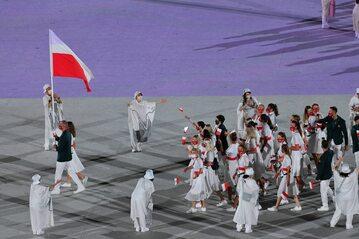 Polacy podczas ceremonii otwarcia igrzysk w Tokio