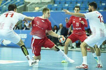 Polacy podczas meczu z Turcją