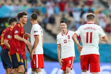 Polacy w meczu z Hiszpanią
