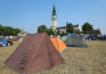 Pole namiotowe pod Jasną Górą