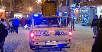 Policja na Krupówkach