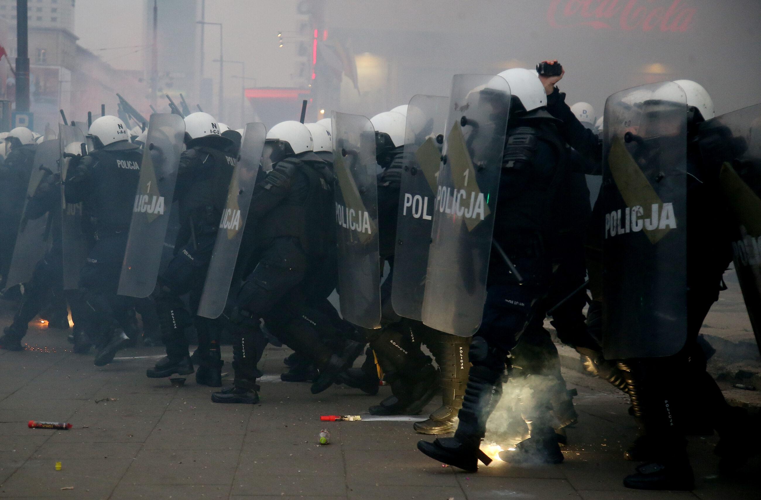 Policja na Marszu Niepodległości w 2020 roku
