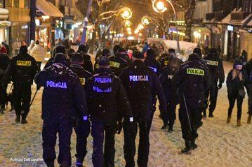Policja na ulicach Zakopanego