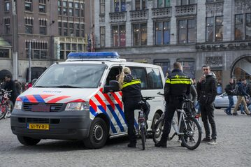 Policja w Amsterdamie