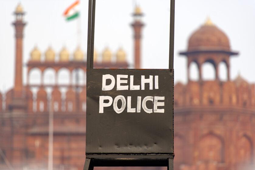 Policja w Indiach, zdjęcie ilustracyjne