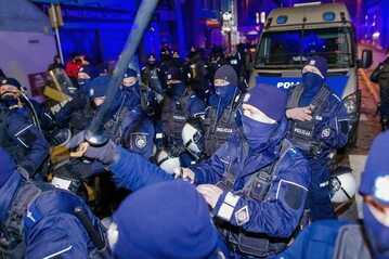 Policja w trakcie interwencji w Rybniku