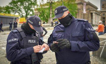 Policja w trakcie pandemii koronawirusa w Polsce (zdj. ilustracyjne)