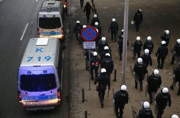 Policja w Warszawie 13 grudnia 2020 roku