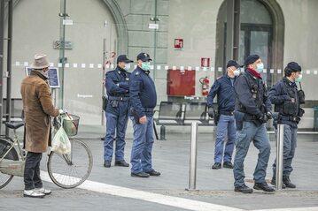 Policja we włoskim Bergamo