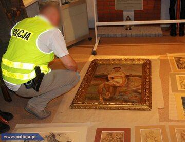 Policjanci odzyskali skradzione dzieła sztuki z tzw. kolekcji Goebbelsa