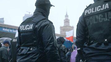 Policjanci w Warszawie