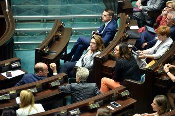 Politycy Koalicji Obywatelskiej w ławach sejmowych, zdj. ilustracyjne