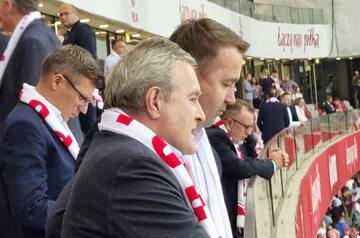 Politycy na meczu Polska-Anglia