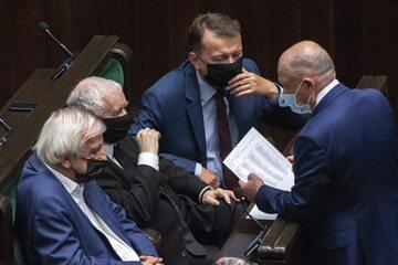 Politycy PiS w sejmowych ławach