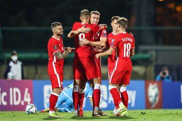 Polscy piłkarze w meczu z San Marino