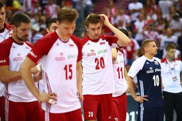 Polscy siatkarze po meczu ze Słowenią