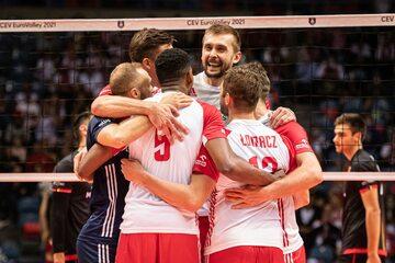 Polscy siatkarze w meczu z Belgią