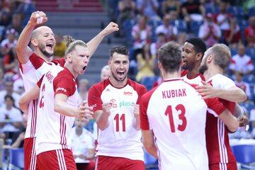 Polscy siatkarze w meczu z Egiptem