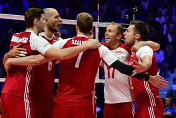Polska drużyna podczas meczu z Włochami