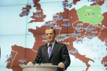 """Polska jako """"zielona wyspa"""". Konferencja Donalda Tuska w 2009 roku"""