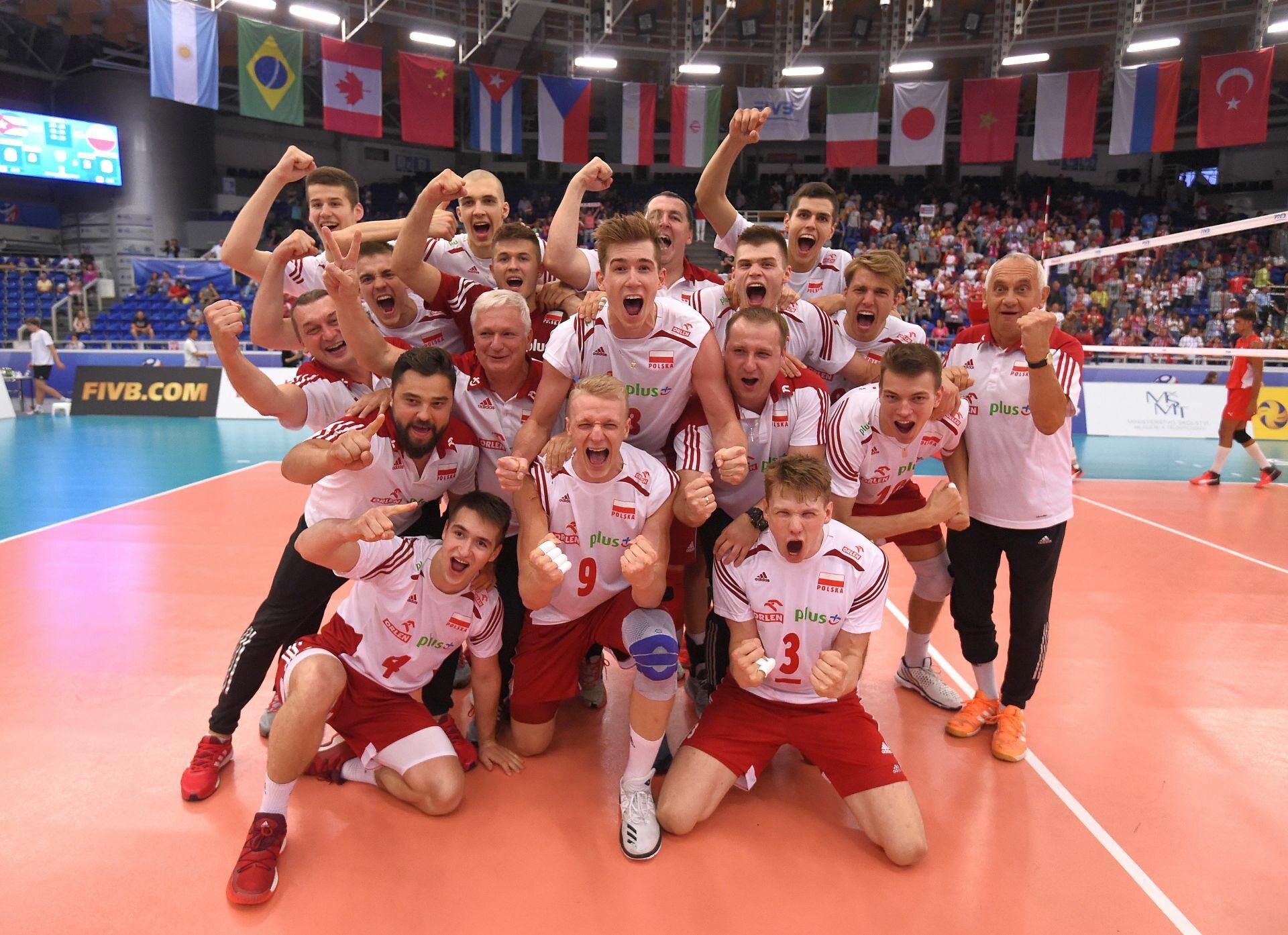 Polska reprezentacja U-21 po zwycięstwie w mistrzostwach świata