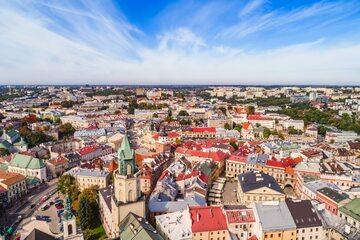 Polska z lotu ptaka, zdjęcie ilustracyjne
