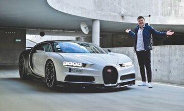 Polski YouTuber jeździł Bugatti Chironem