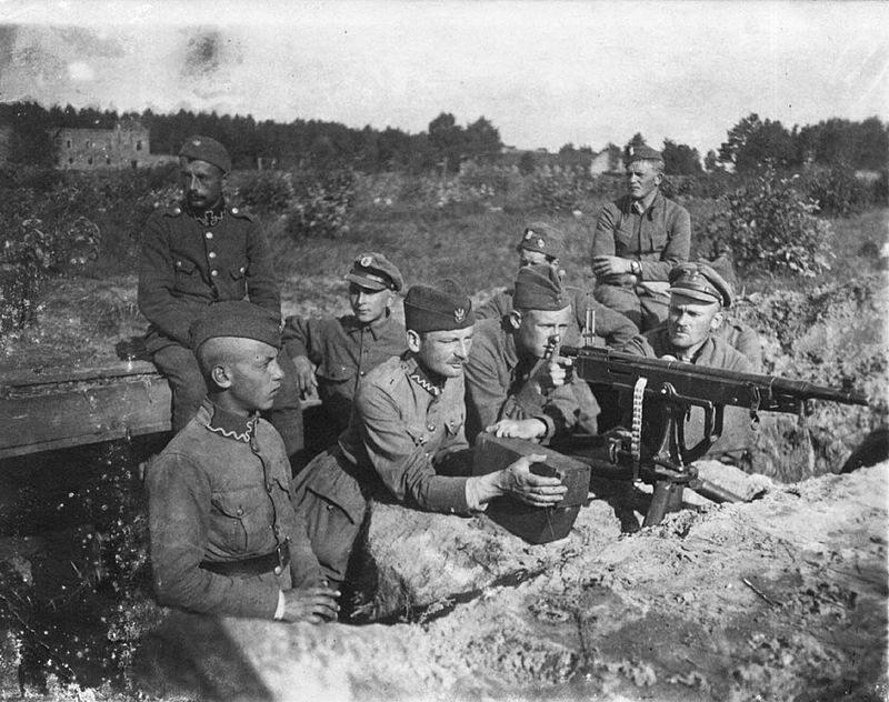 Polskie pozycje pod Miłosną, sierpień 1920
