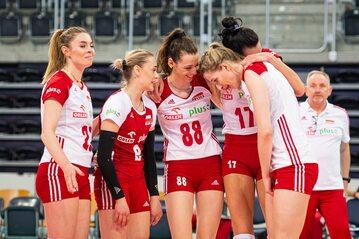 Polskie siatkarki w meczu Polski z Bułgarią