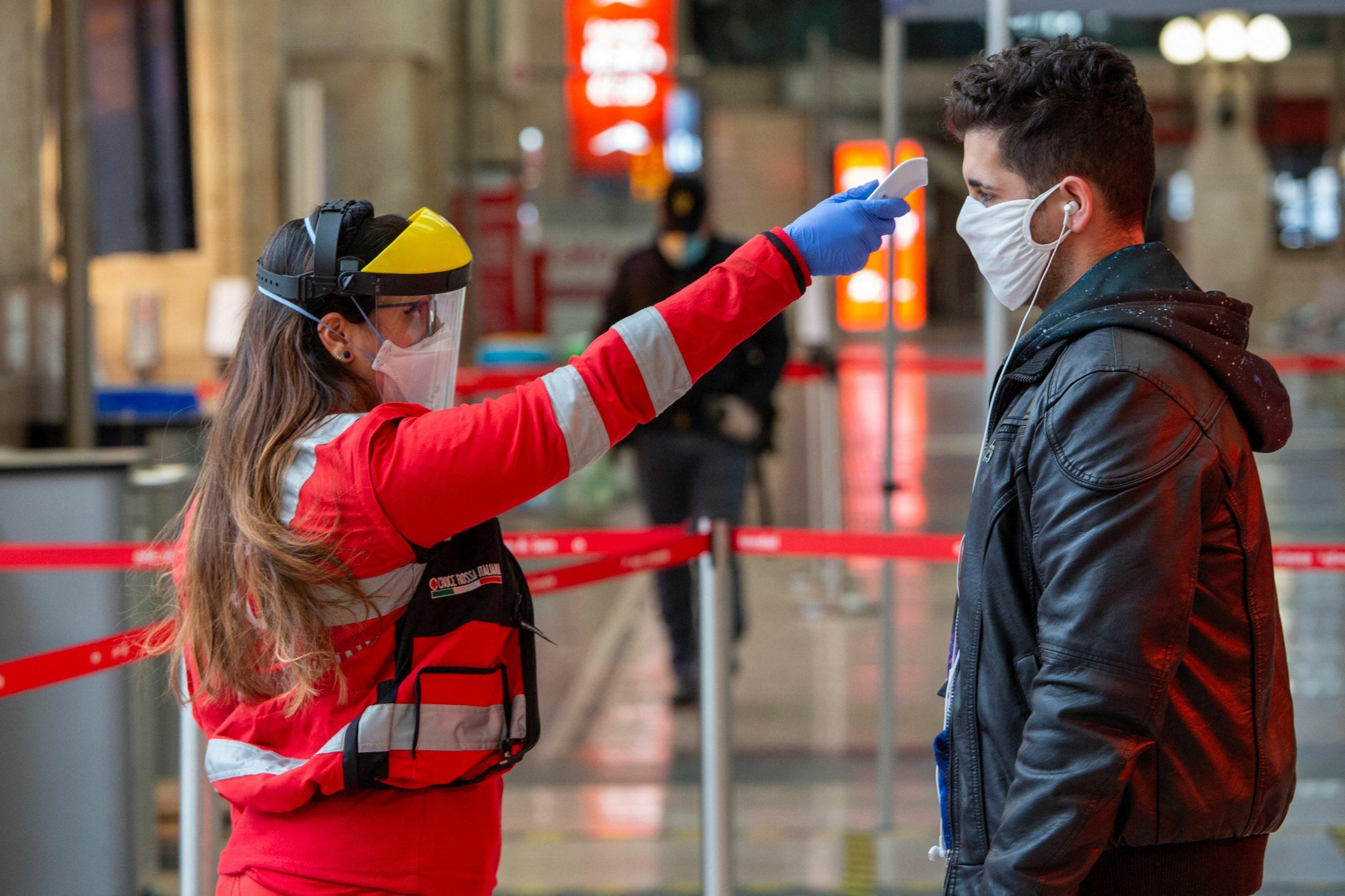 Pomiar temperatury na stacji w Mediolanie