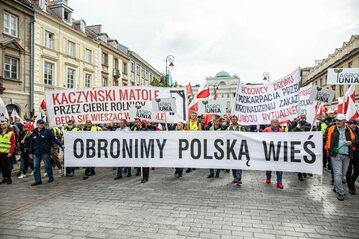 Poprzedni protest rolników w Warszawie