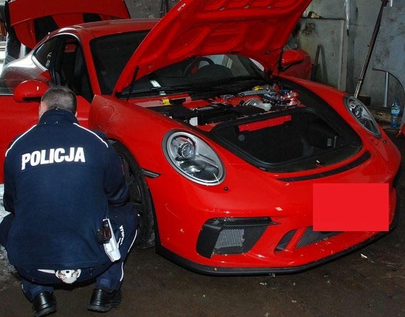 Porsche odzyskane przez polską policję