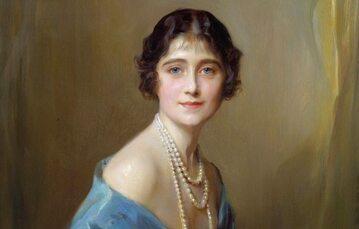 Portret Elżbiety Bowes-Lyon z roku 1925, aut. Philip de László