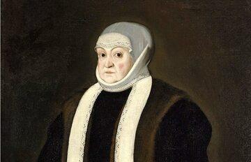 Portret królowej Bony we wdowim stroju