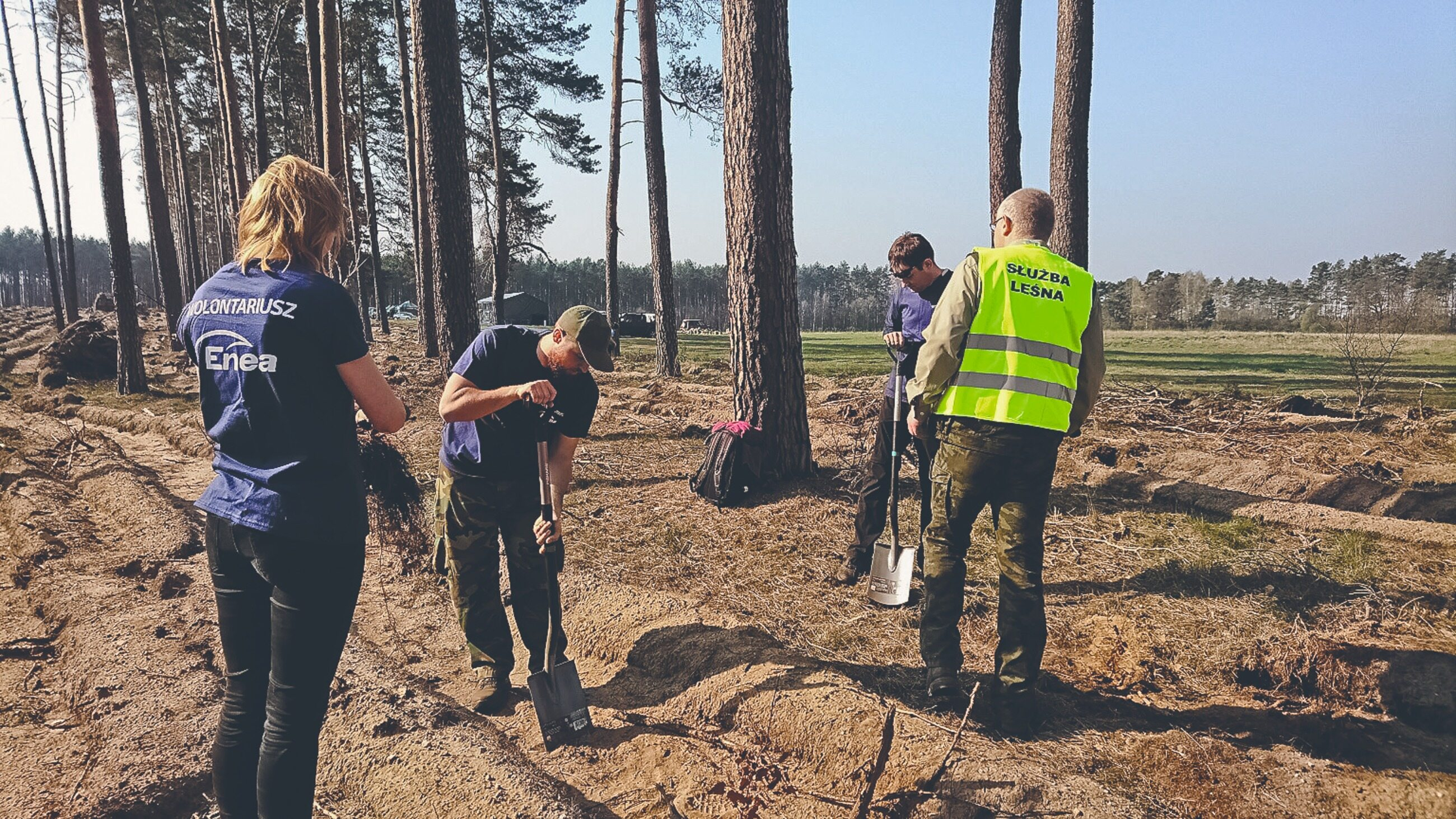 """""""Posadźmy razem las"""" - akcja realizowana razem z Nadleśnictwem Zielona Góra"""