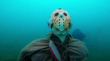 Posąg mordercy na dnie Lake Pleasant
