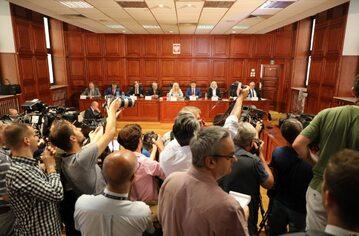 Posiedzenie komisji śledczej ds. Amber Gold w Sądzie Okręgowym w Warszawie