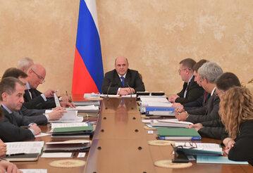 Posiedzenie rządu Federacji Rosyjskiej z premierem Michaiłem Miszustinem
