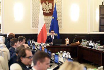 Posiedzenie rządu pod wodzą premiera Mateusza Morawiecki
