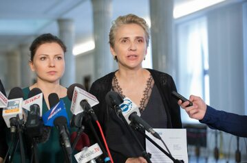 Posłanki .Nowoczesnej Monika Rosa i Joanna Scheuring-Wielgus