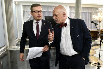 Posłowie Konfederacji: Robert Winnicki i Janusz Korwin-Mikke