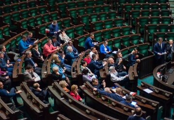 Posłowie PO, którzy pozostali na sali plenarnej w Sejmie