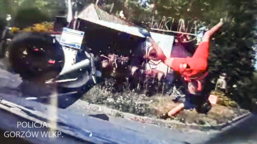 Poszukiwany motocyklista miał wypadek