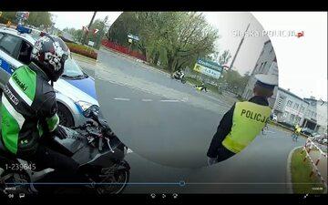 Potrącenie policjanta Dąbrowa Górnicza