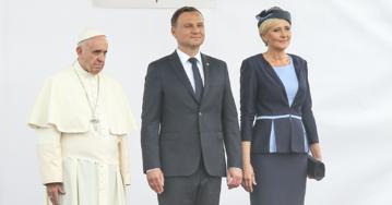 Powitanie papieża Franciszka w Polsce