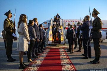 Powitanie polskiej pary prezydenckiej na Ukrainie