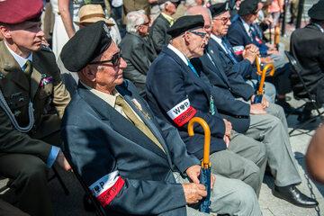 Powstańcy Warszawscy podczas obchodów Święta Wojska Polskiego w 2016 roku